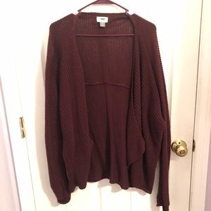 Old Navy Burgundy Knitted Cardigan